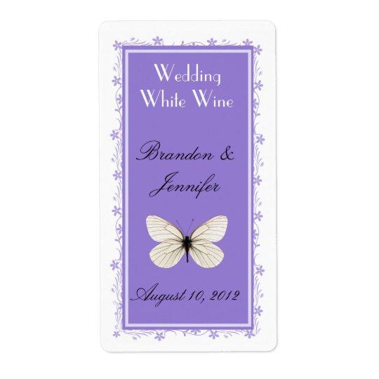 Stylish Lavender Wedding Mini Wine Labels