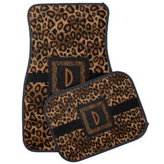 Stylish Leopard Animal Print Pattern | Brown Car Mat
