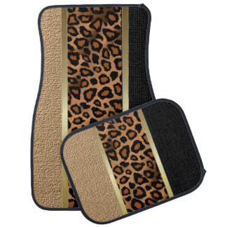 Stylish Leopard Animal Print Pattern | Tan Floor Mat