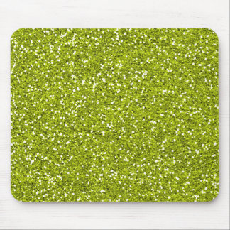 Stylish Lime Green Glitter Mouse Pad