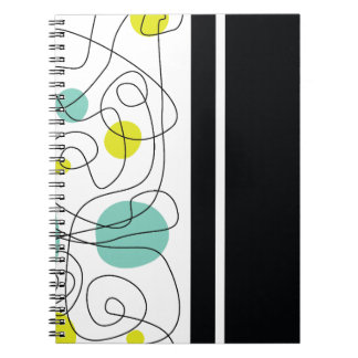 Stylish Lines Spiral Notebook