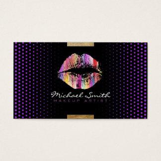 Stylish Lips Makeup Artist Modern Dark Orchid Dot