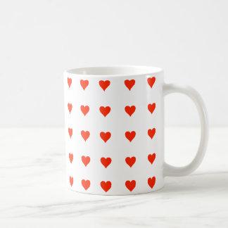 Stylish Little Red Hearts Mug