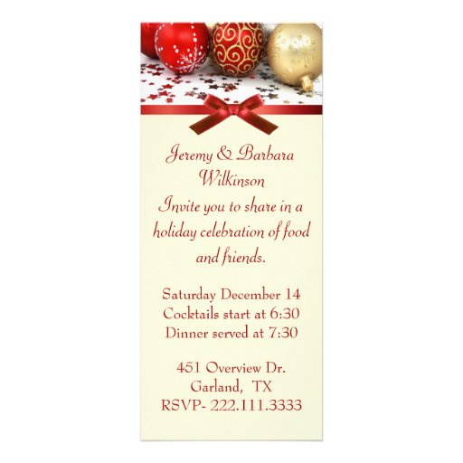 Stylish Long Christmas Party Invitation