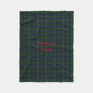 Stylish MacEwen Plaid Fleece Blanket