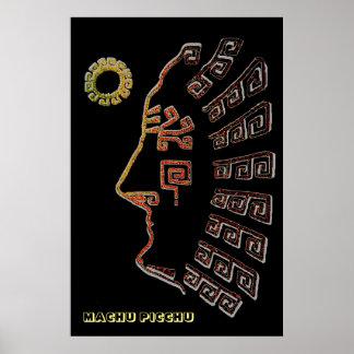 Stylish Machu Picchu Silhouette Poster