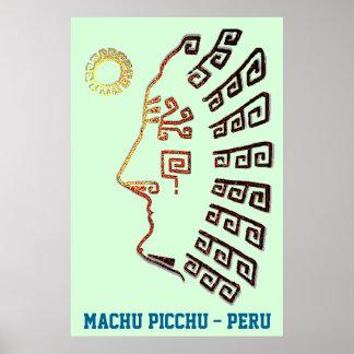 Stylish Machu_Picchu Silhouette Poster