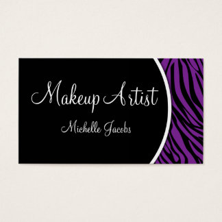 Stylish Makeup Artist Business Card