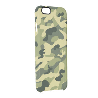 Stylish Manly Camouflage Camo Military Pattern Clear iPhone 6/6S Case