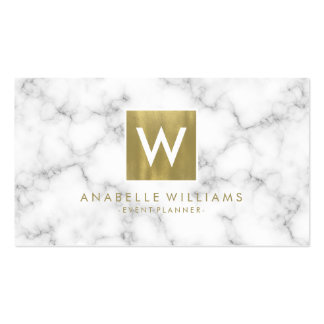 Stylish Marble and Gold Printed Texture Pack Of Standard Business Cards