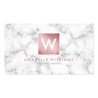 Stylish Marble and Rose Gold Printed Texture Pack Of Standard Business Cards