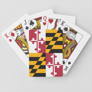 Stylish Maryland State Flag Decor Playing Cards