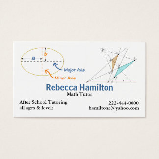 Stylish Math Tutor / Teacher's Business Card