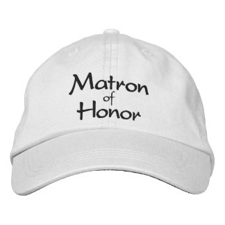 Stylish Matron of Honor Embroidered Cap Embroidered Hats