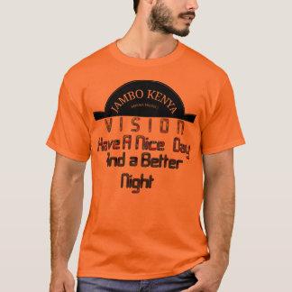 Stylish Men's Basic Orange Vision Kenya Nice Day T-Shirt