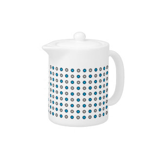 Stylish Metallic Blue and Silver Polka Dot Pattern