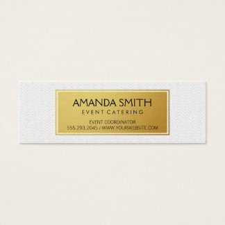 Stylish Metallic Gold with Subtle Wavy Pattern Mini Business Card