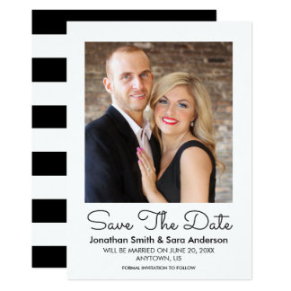 Stylish Minimal Save The Date Photo Card