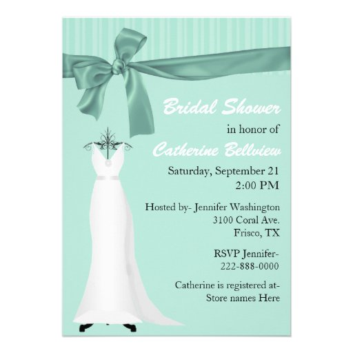 Stylish Mint Green Bridal Shower Invitation