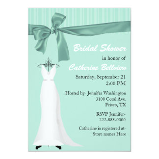 Stylish Mint Green Bridal Shower Invitation