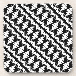 Stylish Mirrored Geometric & Abstract Pattern Beverage Coaster