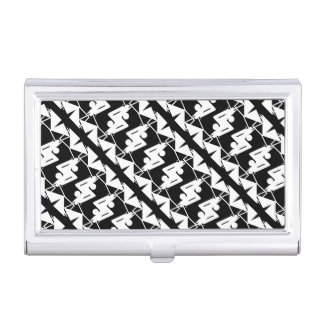Stylish Mirrored Geometric & Abstract Pattern Business Card Case