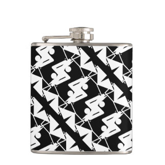 Stylish Mirrored Geometric & Abstract Pattern Hip Flask