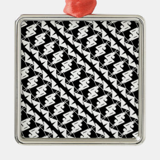 Stylish Mirrored Geometric & Abstract Pattern Metal Ornament