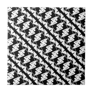 Stylish Mirrored Geometric & Abstract Pattern Small Square Tile
