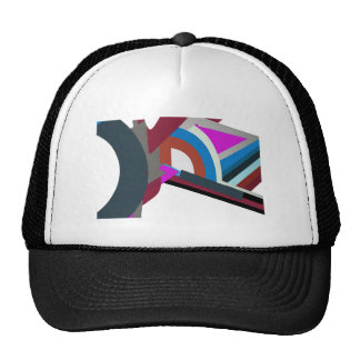 Stylish Modern Abstract Art Trucker hats