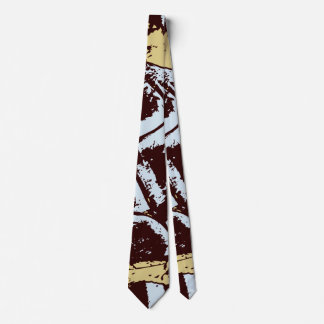 Stylish Modern Abstract Blue Brown Beige Cravat Tie