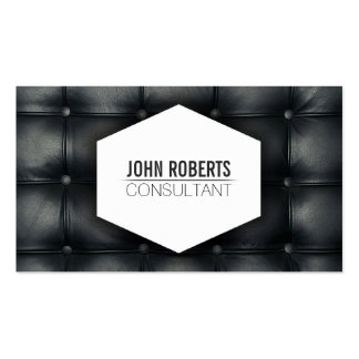 Stylish modern elegant black leather furniture pack of standard business cards