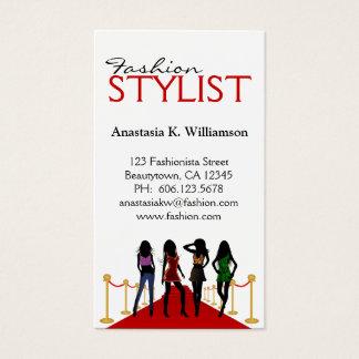 Stylish Modern Fashion Stylist Business Card