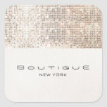 Stylish Modern FAUX Silver Sequins