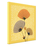 Stylish Modern Mid Century Floral Illustration Canvas Print