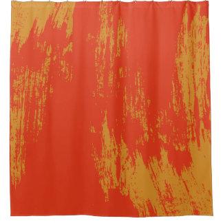 Stylish Modern Orange Grunge Design - Painted Shower Curtain