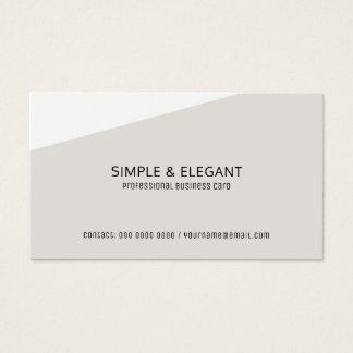 stylish modern pale gray professional business card