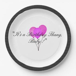 Stylish-Modern-Party_Birthday_Black-Plaid Paper Plate