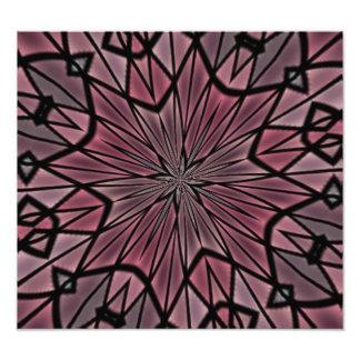 Stylish modern pattern photo print