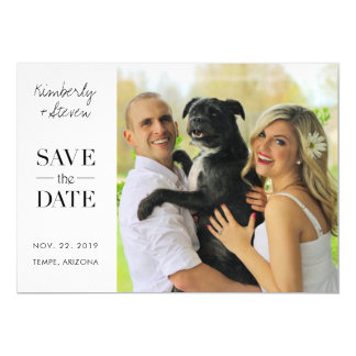 Stylish Modern Photo Save the Date Magnetic Card
