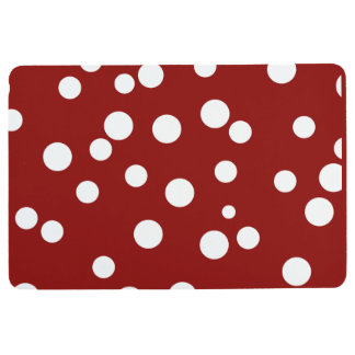 Stylish Modern Polkadots Pattern Floor Mat