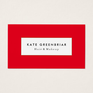 Stylish Modern Red Beauty and Fashion Stylist Business Card