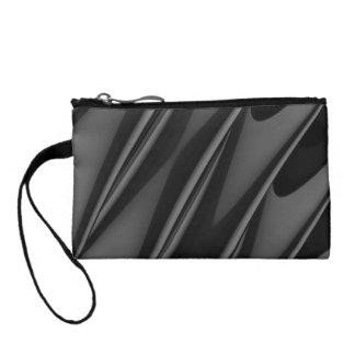 Stylish modern striped 3d ripple design change purses