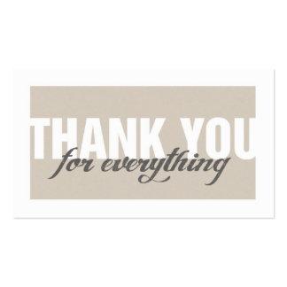 Stylish Modern Thank You Tag Card Business Card