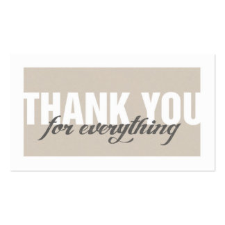 Stylish Modern Thank You Tag Card Pack Of Standard Business Cards
