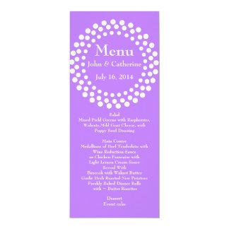 Stylish Modern Violet Wedding Table Menu 10 Cm X 24 Cm Invitation Card