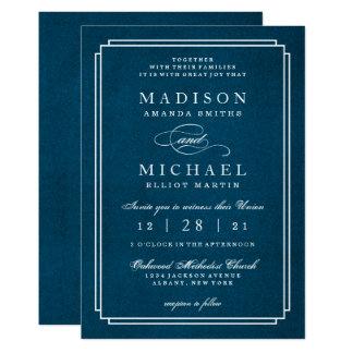 Stylish Modern Wedding White Script Invitation