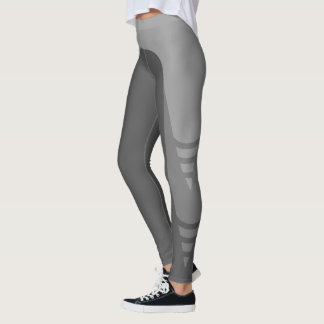 Stylish Monochrome Detail Pattern Leggings