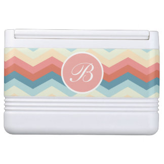 Stylish Monogram Designer Chevron Cooler