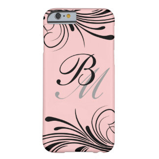 Stylish Monogram Initials Barely There iPhone 6 Case